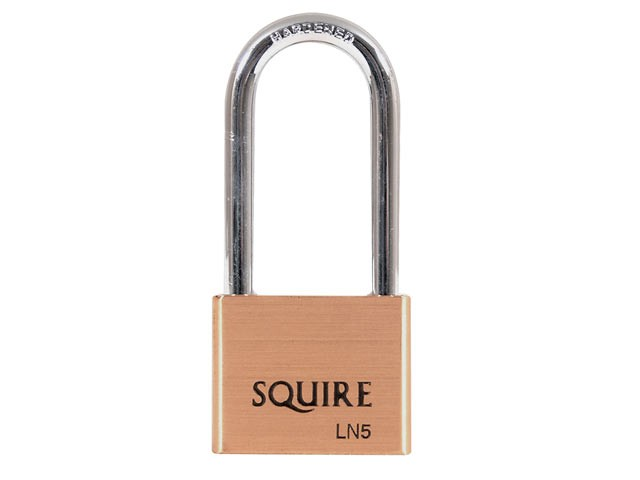 LN5/2.5 Lion Brass Padlock 5-Pin 50mm - 65mm Long Shackle