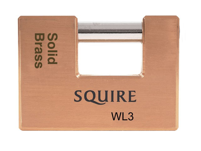 WL3 Solid Brass Warehouse Padlock 90mm