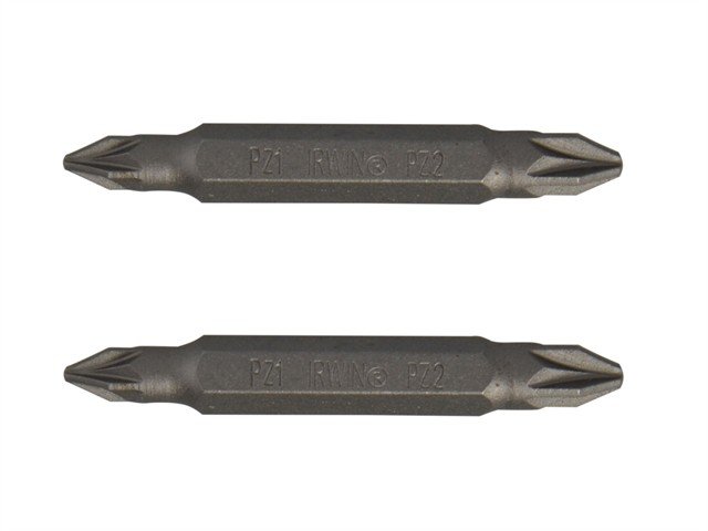 Screwdriver Bits PZ1 / PZ2 Double Ended 50mm Pack of 2