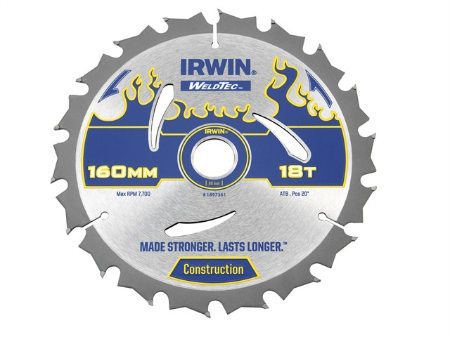 Weldtec Circular Saw Blade 160 x 20mm x 18T ATB