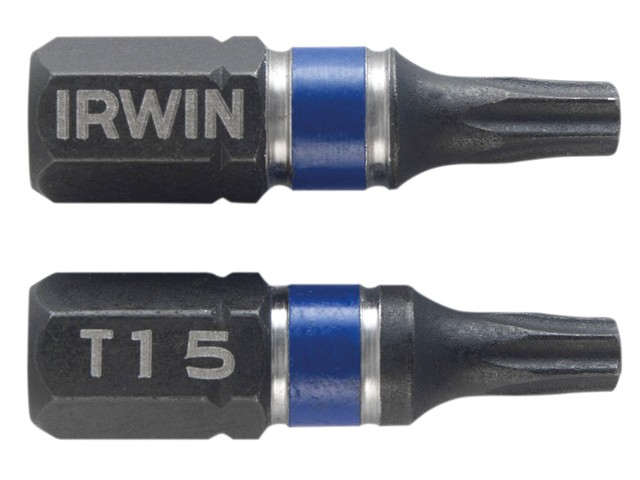 Impact Screwdriver Bits TORX TX15 25mm Pack of 2