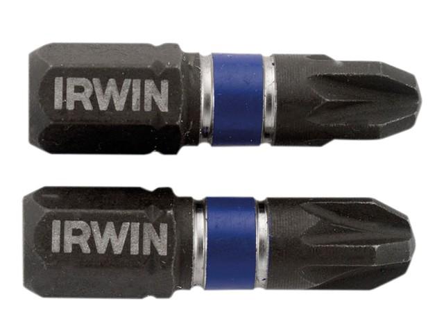 Impact Screwdriver Bits Pozi PZ3 25mm Pack of 2