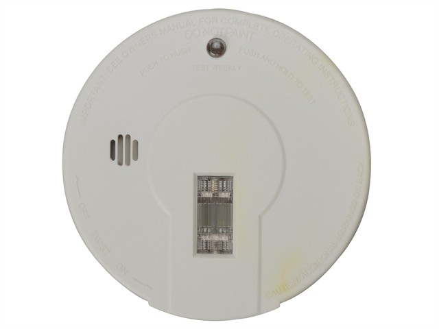 9080-UK-C Premium General-Purpose Smoke Alarm With Light & Hush