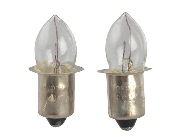 Krypton Bulbs (2) 4.8v Push (T996)