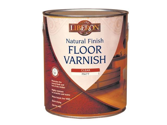 Natural Finish Floor Varnish Clear Matt 2.5 Litre