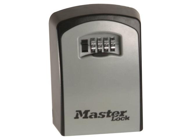 5401E Large Wall Mounted Key Lock Box (Up To 5 Keys) - Black