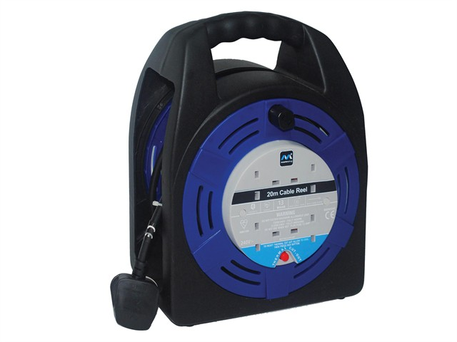 Case Reel 20 Metre 4 Socket 13A Thermal Cut-Out 240 Volt