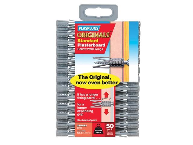 SCF 552 ORIGINALS™ Plasterboard Fixings Pack of 50
