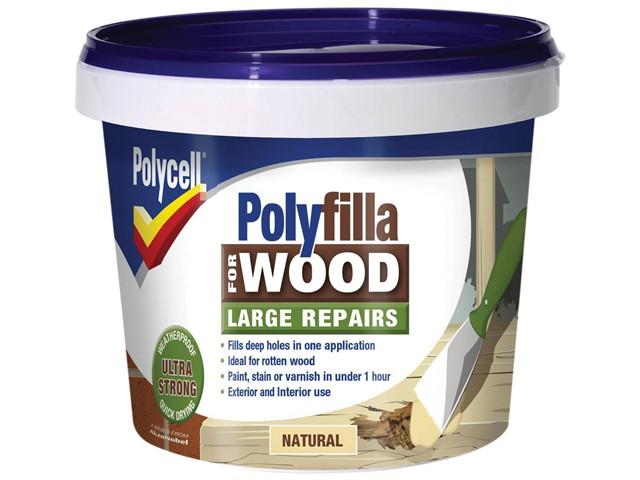 Polyfilla 2 Part Wood Filler Natural 750g