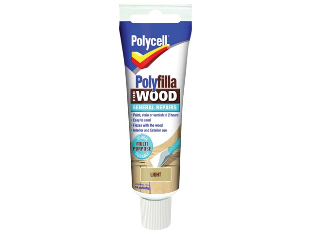 Polyfilla For Wood General Repairs Tube Light 75g