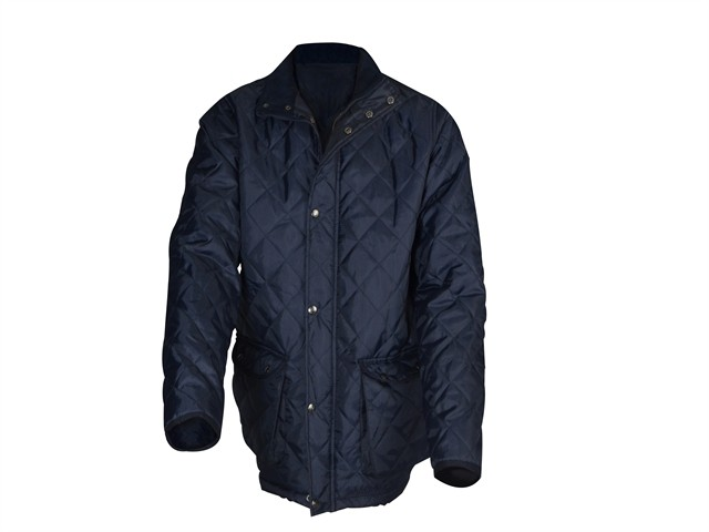 Blue Quilted Jacket - M (41in)