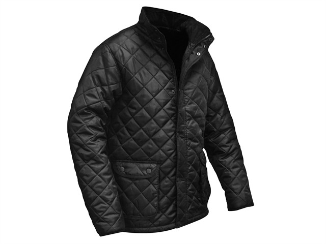 Black Quilted Jacket - M (41in)