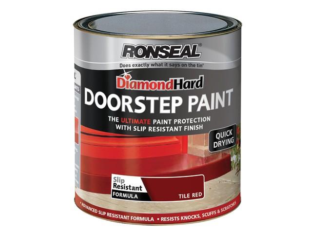 Diamond Hard Doorstep Paint Red 250ml