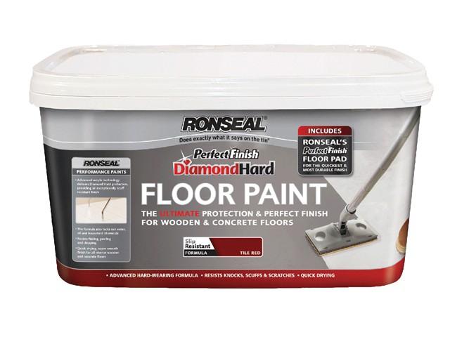 Diamond Hard Perfect Finish Floor Paint White 2.5 Litre