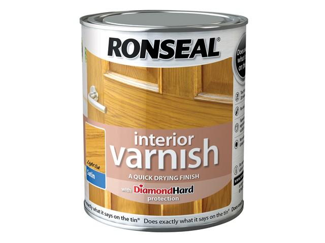 Interior Varnish Quick Dry Satin Light Oak 750ml