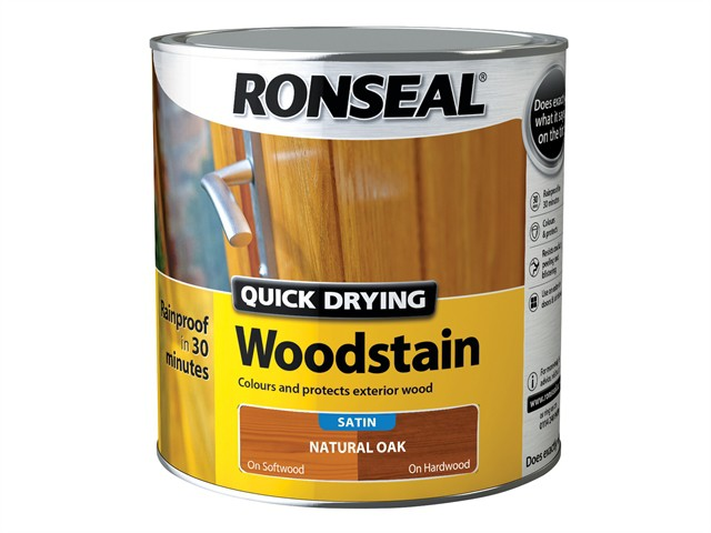 Woodstain Quick Dry Satin Natural Oak 2.5 Litre