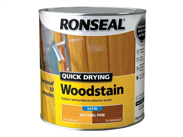 Woodstain Quick Dry Satin Natural Pine 2.5 Litre