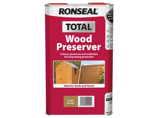 Total Wood Preserver Dark Brown 5 Litre