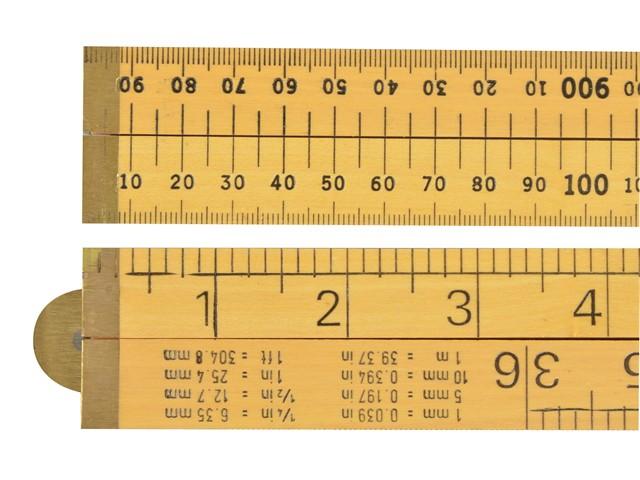 Wooden 4 Fold Rule 1m / 39in (Loose)
