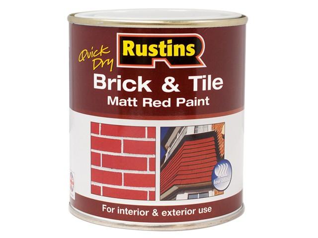Quick Dry Brick & Tile Paint Matt Red 1 Litre