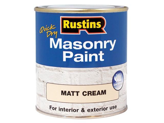 Quick Dry Masonry Paint Cream 500ml