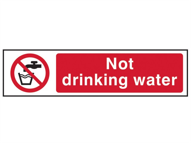 Not Drinking Water - PVC 200 x 50mm