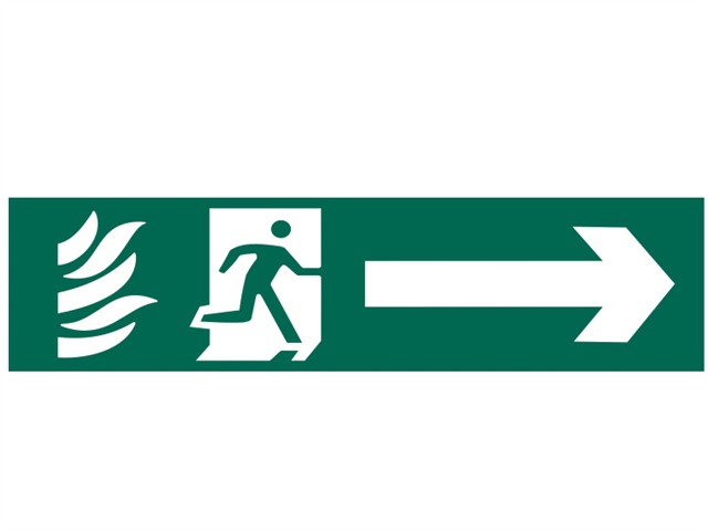 Running Man Arrow Right - PVC 200 x 50mm