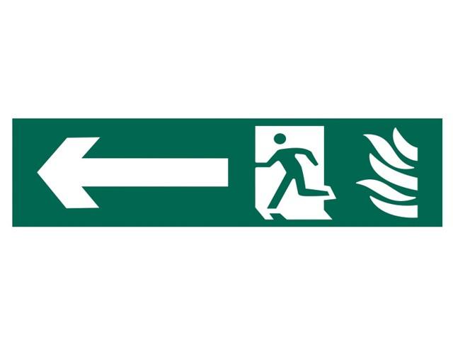 Running Man Arrow Left - PVC 200 x 50mm