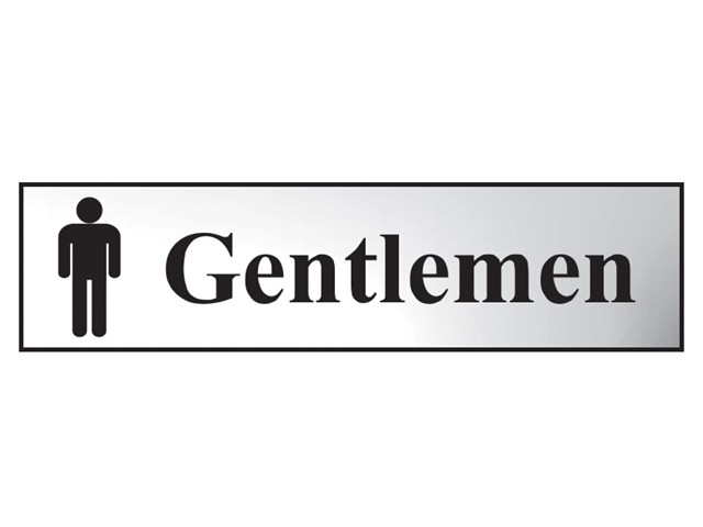 Gentlemen - Polished Chrome Effect 200 x 50mm