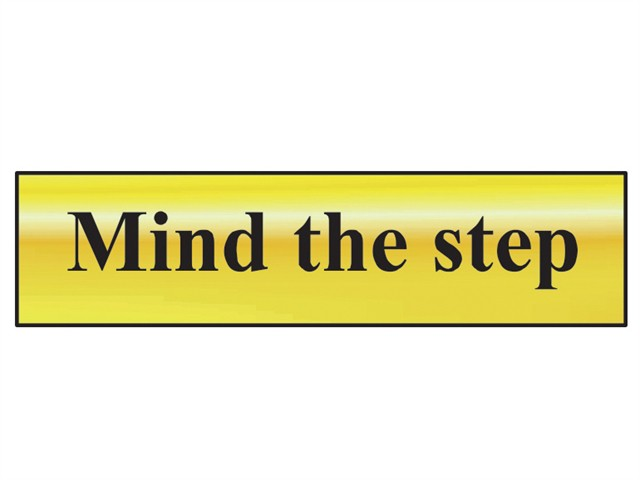 Mind The Step - Polished Brass Effect 200 x 50mm