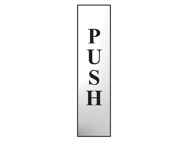 Push Vertical - Polished Chrome Effect 50 x 200mm