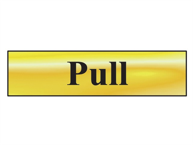 Pull - Polished Brass Effect 200 x 50mm