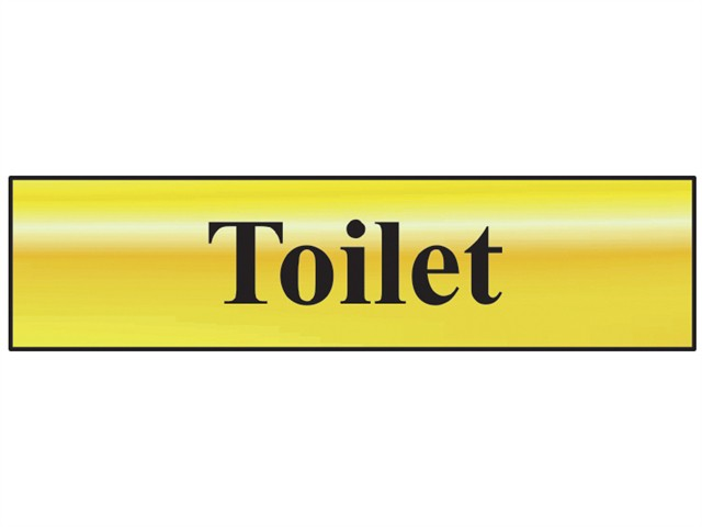 Toilet - Polished Brass Effect 200 x 50mm