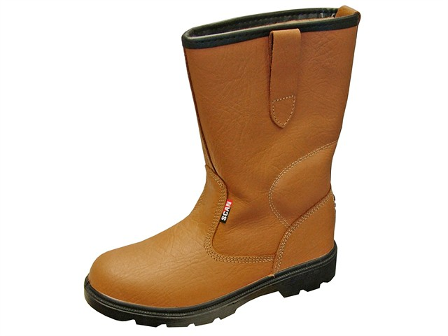 Texas Lined Tan Rigger Boots UK 9 Euro 43