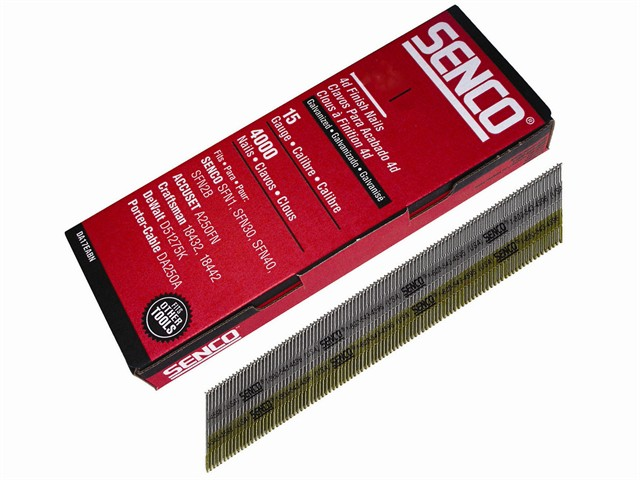 Chisel Smooth Brad Nails Galvanised 15G x 50mm Pack of 4000