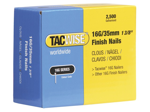 16 Gauge Straight Finish Nails 20mm Pack 2500