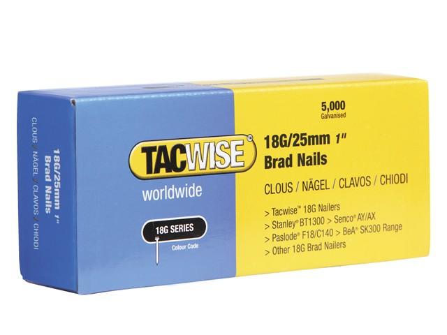 18 Gauge 25mm Brad Nails Pack of 5000
