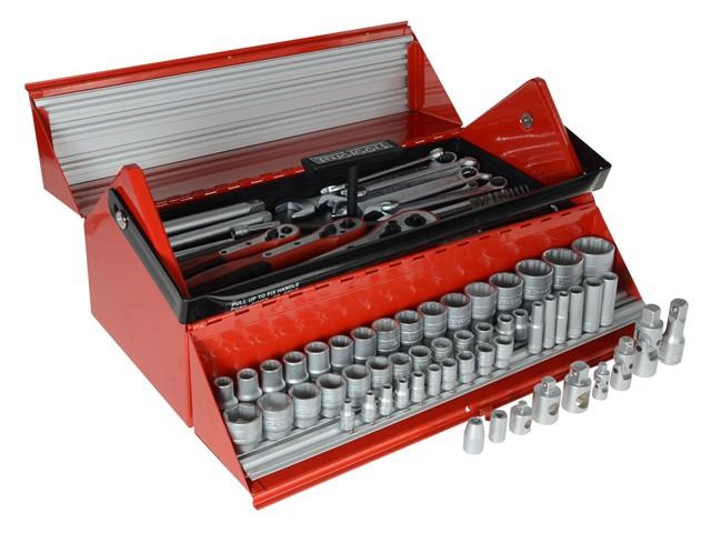 TC187 Mega Rosso Tool Kit Set of 187 1/4, 3/8 & 1/2in