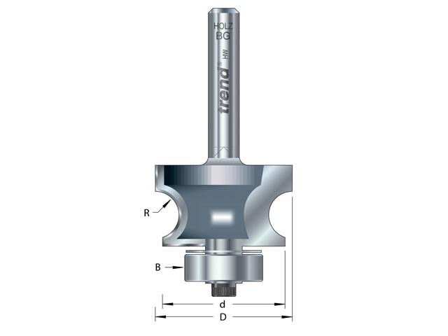 9/73 x 1/2 TCT Bearing Guided Corner Bead Cutter 7.0 Radius