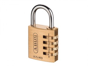 165/40 40mm Solid Brass Body Combination Padlock (4-Digit) Carded