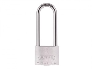 64TI/50HB80 Titalium Padlock 50mm x 80mm Long Shackle Keyed KA6512