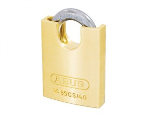 65/40CS 40mm Brass Padlock Closed Shackle Carded