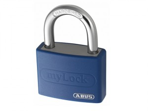 T65AL/40 40mm My Lock Aluminium Padlock Blue Body Keyed 6401