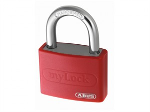 T65AL/40 40mm My Lock Aluminium Padlock Red Body 50012