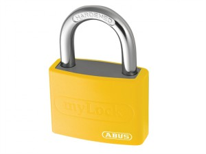 T65AL/40 40mm My Lock Aluminium Padlock Yellow Body Keyed 6401