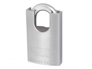 83/50mm Chrome Plated Brass Padlock Hardened Closed Shackle Keyed Alike 2745