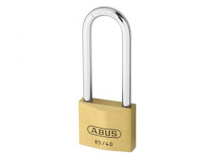 85/40mm Brass Padlock 63mm Long Shackle Carded