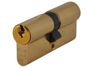 E60NP Euro Double Cylinder Polished Brass 40mm / 50mm Box
