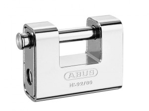 92/80mm Monoblock Brass Body Shutter Padlock Carded