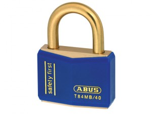 T84MB/40 40mm Blue Safety First Rustproof Padlock